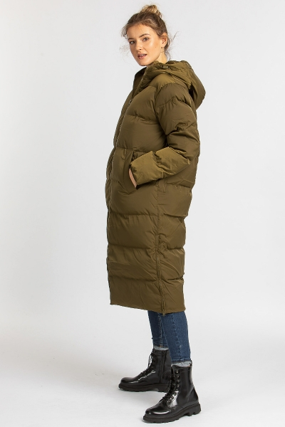Winter mantel Sera coat olive zertifiziert