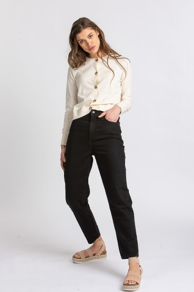 Jeans Mairaa aus Organic Cotton black