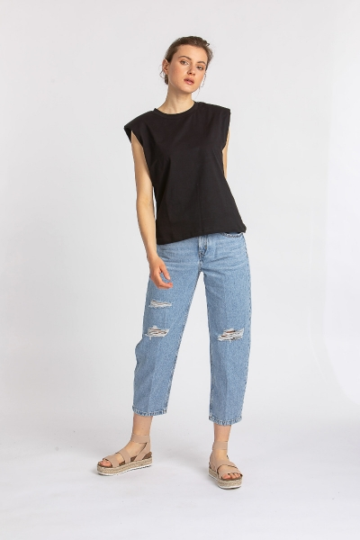 Mid Waist Jeans 80646 Shelter
