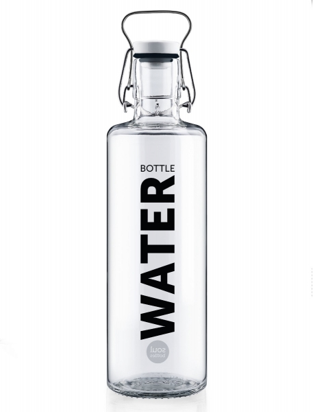 "Glasflasche ""Water"""